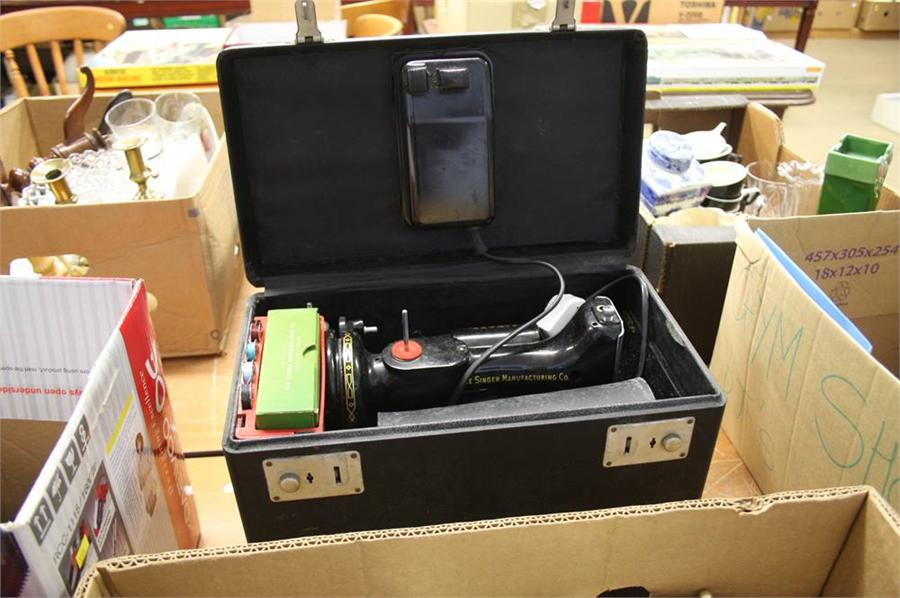 Lot 97 - Cased Singer sewing machine