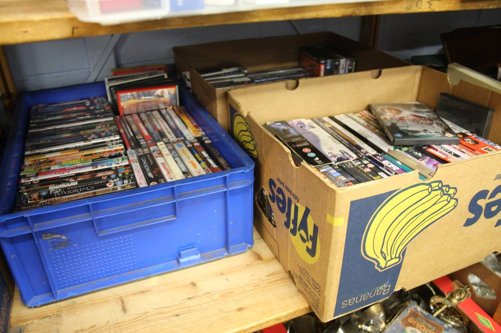 Lot 166 - 3 Boxes of DVD's