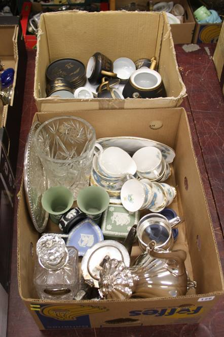 Lot 126 - 2 boxes including Oriental tea china etc.