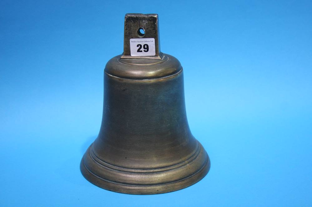 Lot 29 - A brass bell