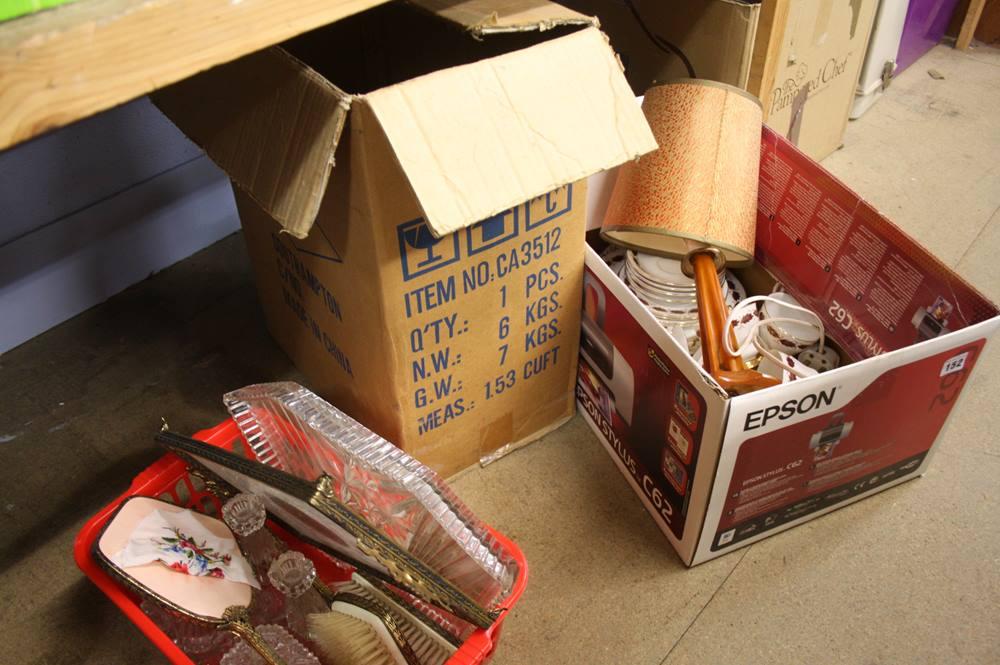 Lot 152 - Shelf including dressing table set etc