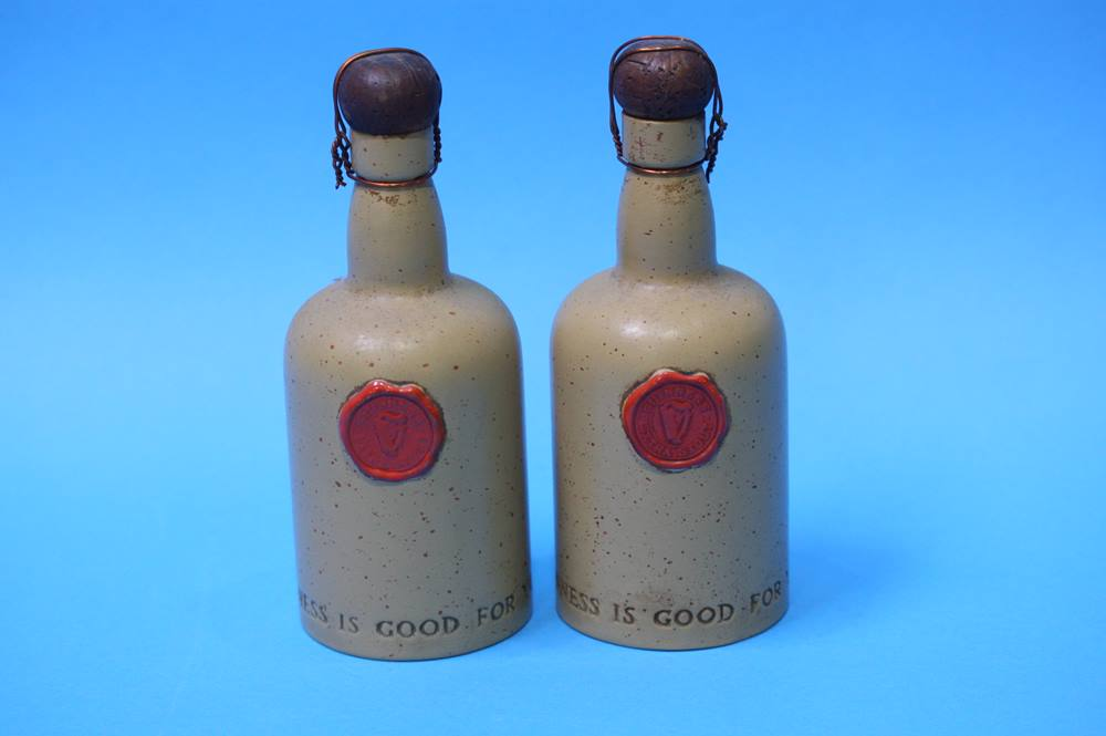 Lot 47 - Two Carlton Ware bottles 'Guinness is good for you' numbered 2770