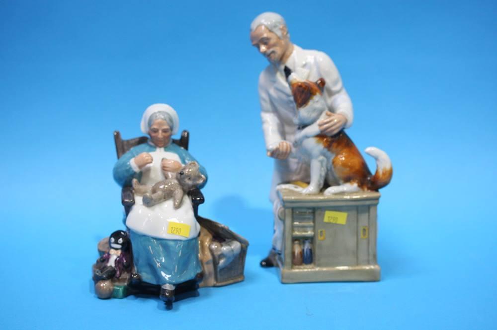 Lot 63 - Royal Doulton figure 'Thanks Doc' and 'Nanny'