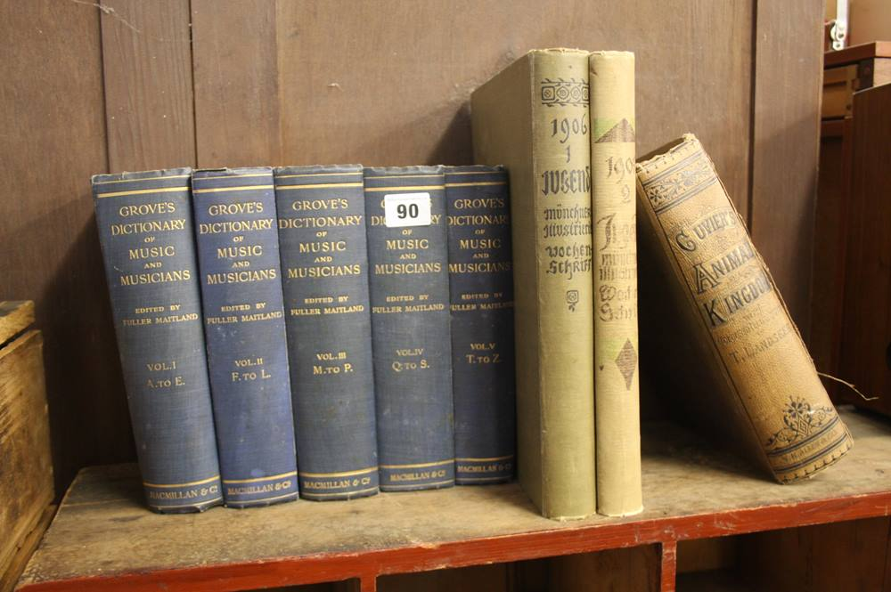 Lot 90 - Groves Dictionary of music and musicians in 5 volu