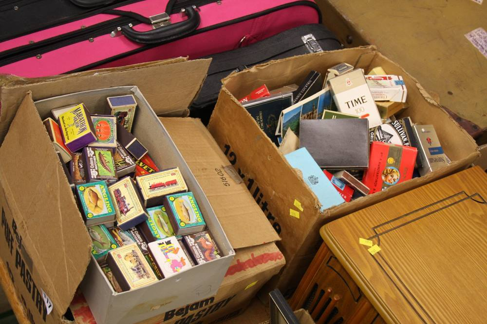 Lot 117 - Cigarette boxes and match boxes