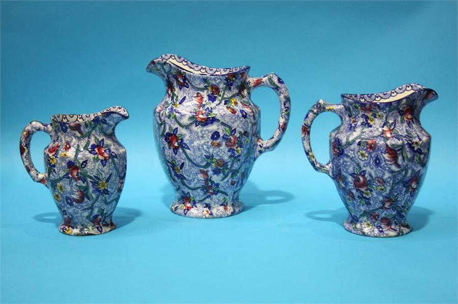 Lot 4 - Three graduated Ringtons Chintz jugs