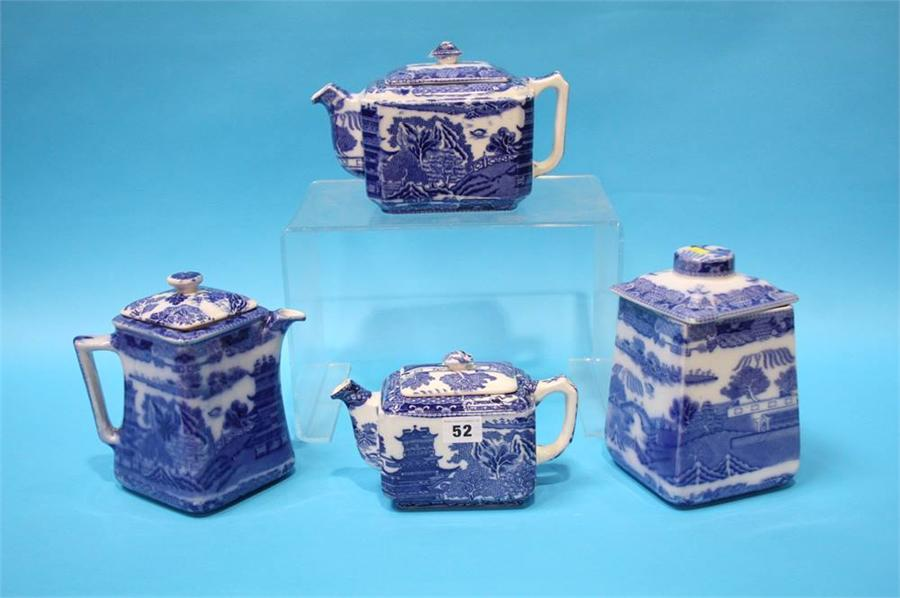 Lot 51 - Four pieces of Ringtons blue and white