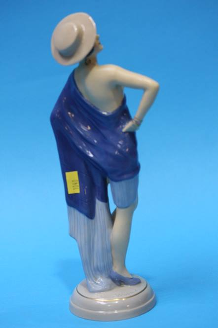Lot 43 - A Royal Dux figurine of a 1930's Lady 26cm height