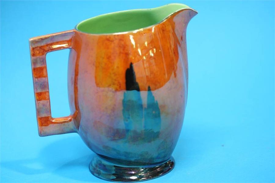 Lot 48 - A Carlton Ware 'Tall trees' pattern water jug on b