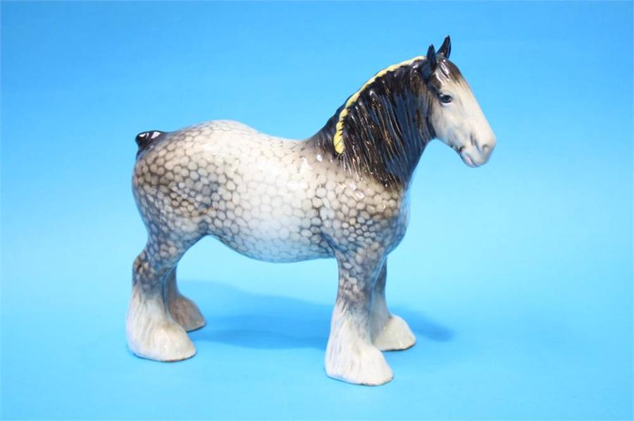 Lot 34 - A Beswick 'Shire' mare, rocking horse grey, number