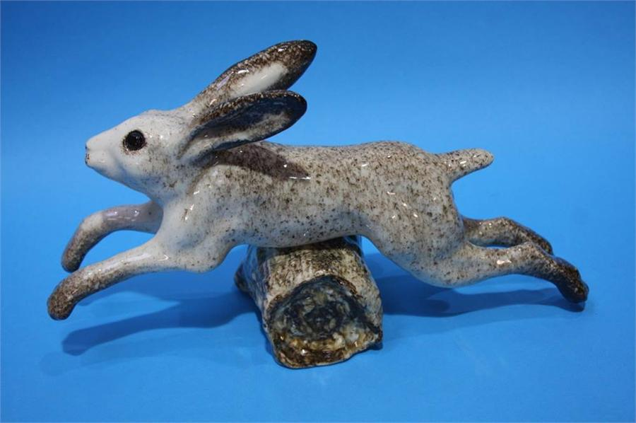 Lot 11 - A Winstanley leaping hare