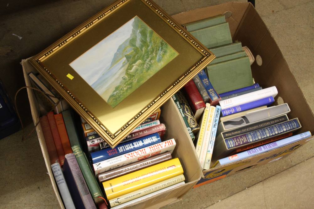 Lot 109 - 2 Boxes books etc.