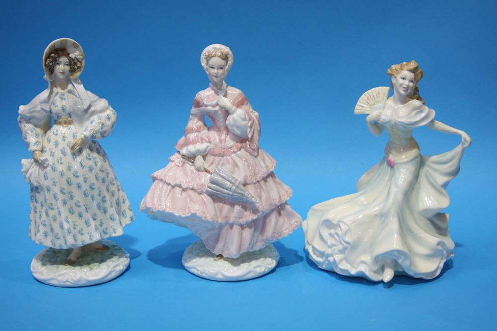 Lot 5 - Royal Worcester figures and a Royal Doulton figure