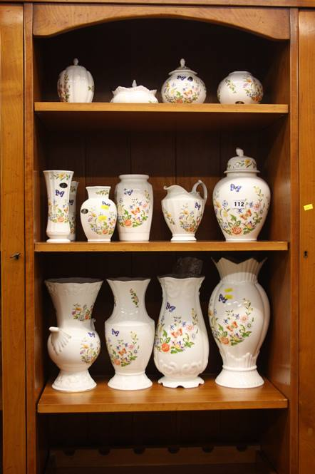 Lot 112 - Collection of Aynsley cottage garden