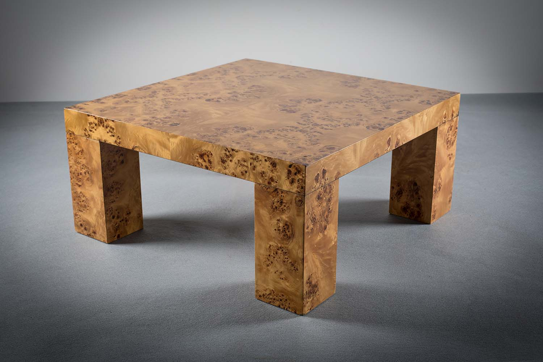 Lot 16 - BURR MAPLE LOW TABLE