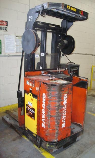 Raymond 24V Electric Reach Standup Forklift, model 20-R30TT