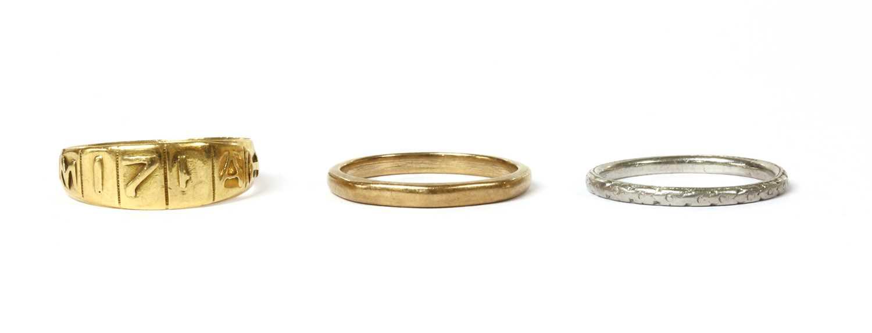 A Victorian 18ct gold Mizpah ring,