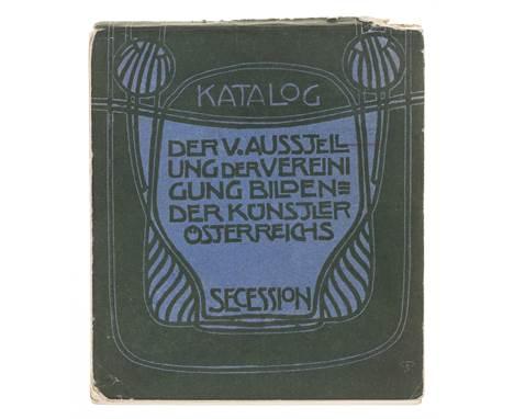 Viennese Secession.- Katalog der V. Ausstellung der Vereinigung Bildender Künstler Österrichs Secession, decorative borders,