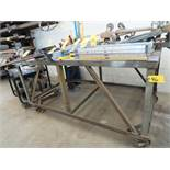 "42-1/2"" X 72"" STEEL ROLLING TABLE (NO CONTENTS)"
