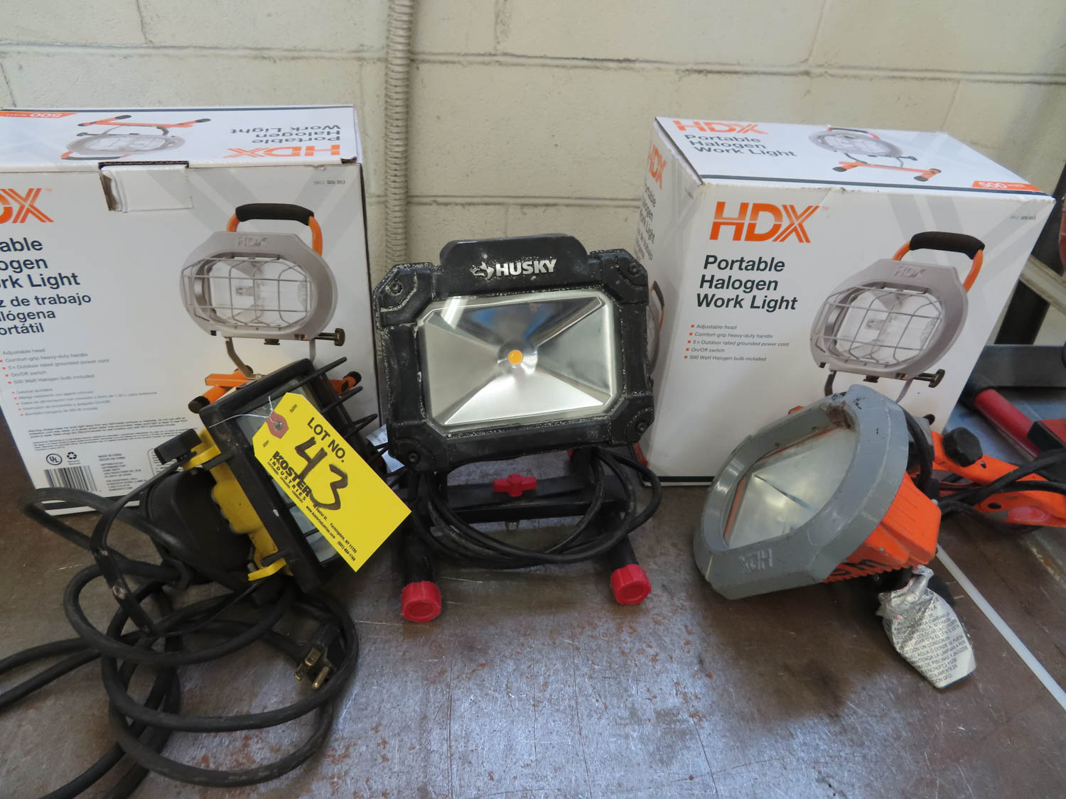 HALOGEN & LED WORK LIGHTS