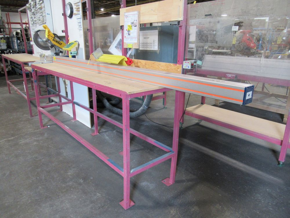 """TIGER STOP 10' MATERIAL MEASURING SYSTEM W/ 22"""" X 8' TABLE - Image 2 of 5"""