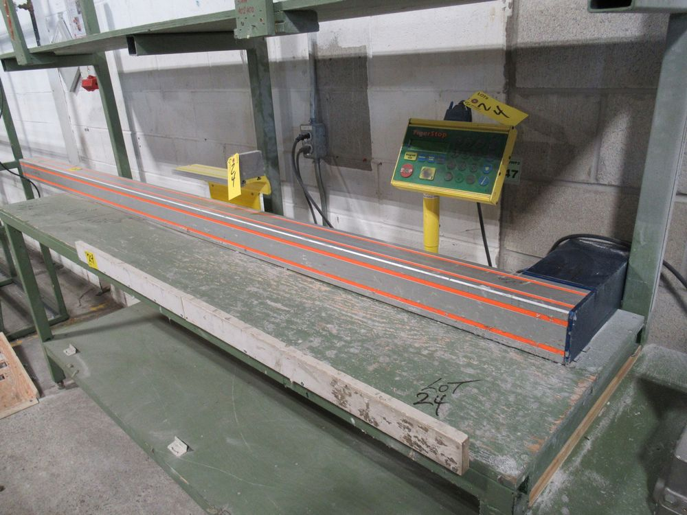 """TIGER STOP 10' MATERIAL MEASURING SYSTEM W/ 24"""" X 10' TABLE"""