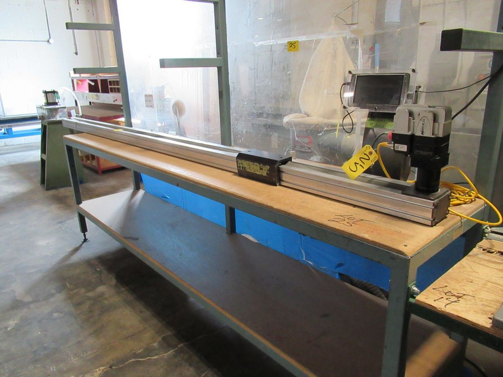 """RAZOR GAUGE APEX DYNAMIC PE-073 12' MATERIAL MEASURING SYSTEM W/ 24"""" X 10' TABLE - Image 2 of 4"""