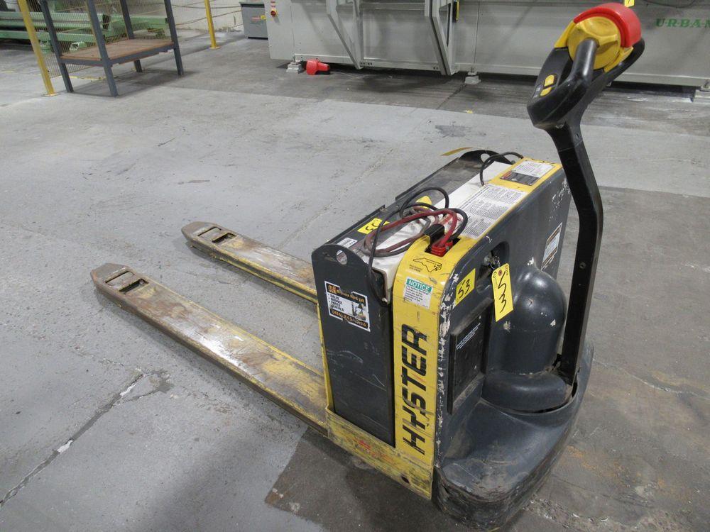 HYSTER W50Z ELECTRIC PALLET JACK, 5,000LB CAP., APPROX. 748HRS, S/N D215N02435J