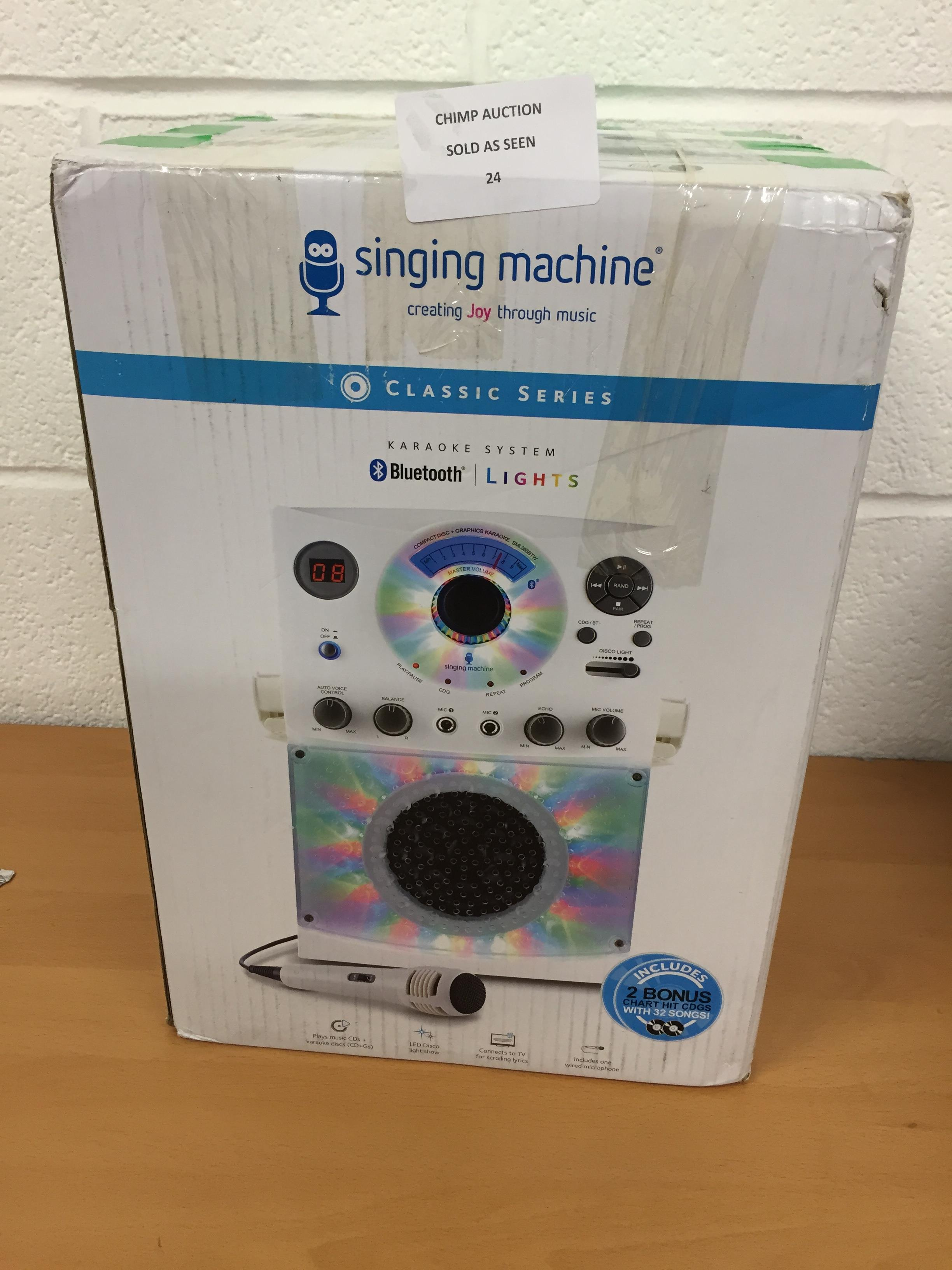 Lot 24 - Singing Machine Classic series Bluetooth karaoke system