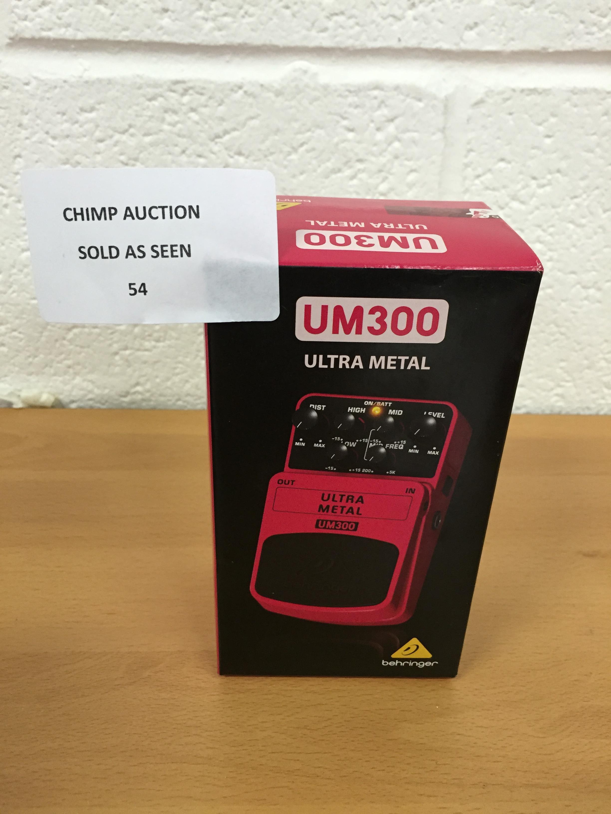 Lot 54 - Behringer UM300 Ultra Metal Distortion Effects Pedal