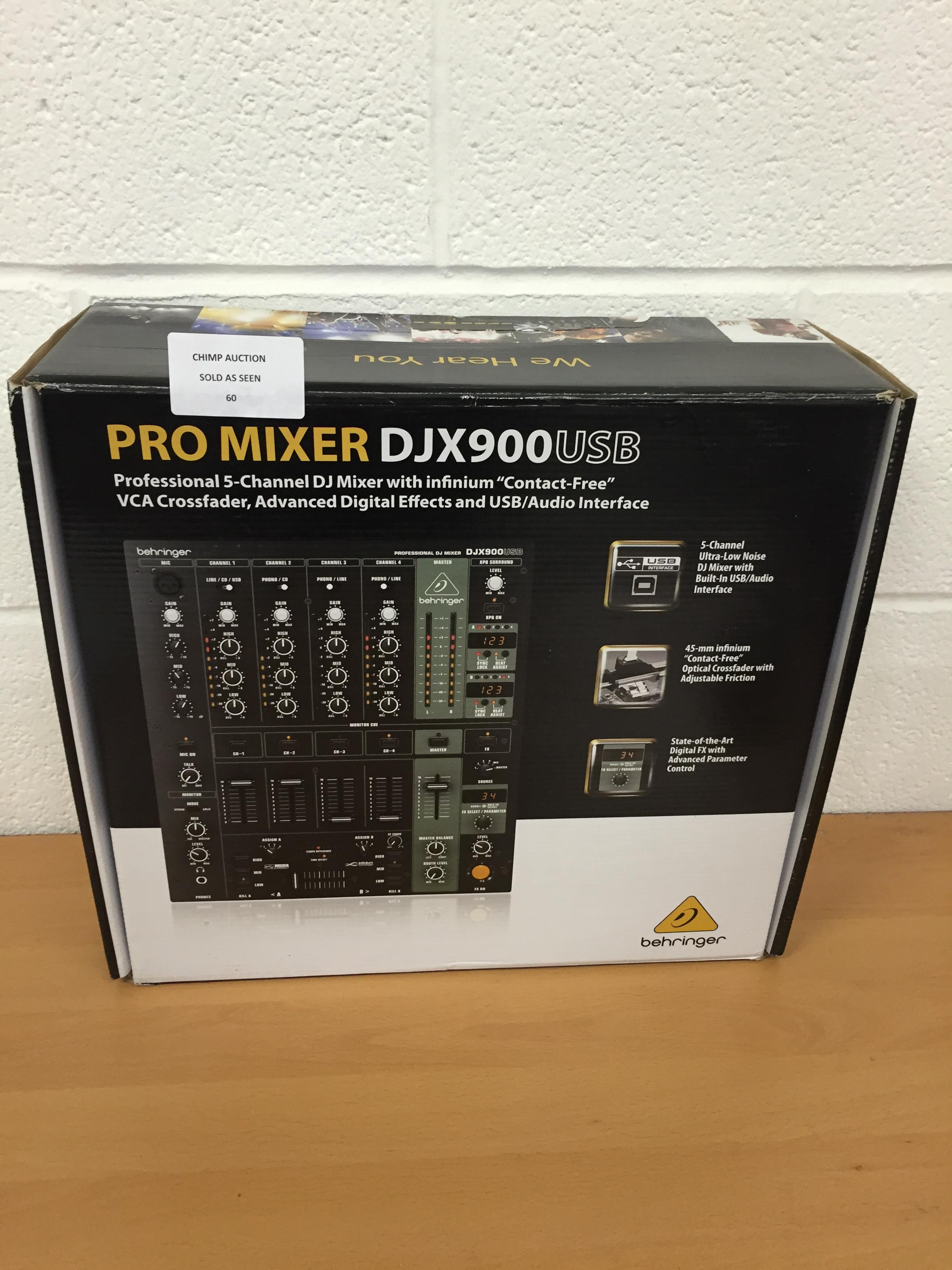 Lot 60 - Behringer DJX900USB 5 Channel DJ Pro Mixer RRP £239.99