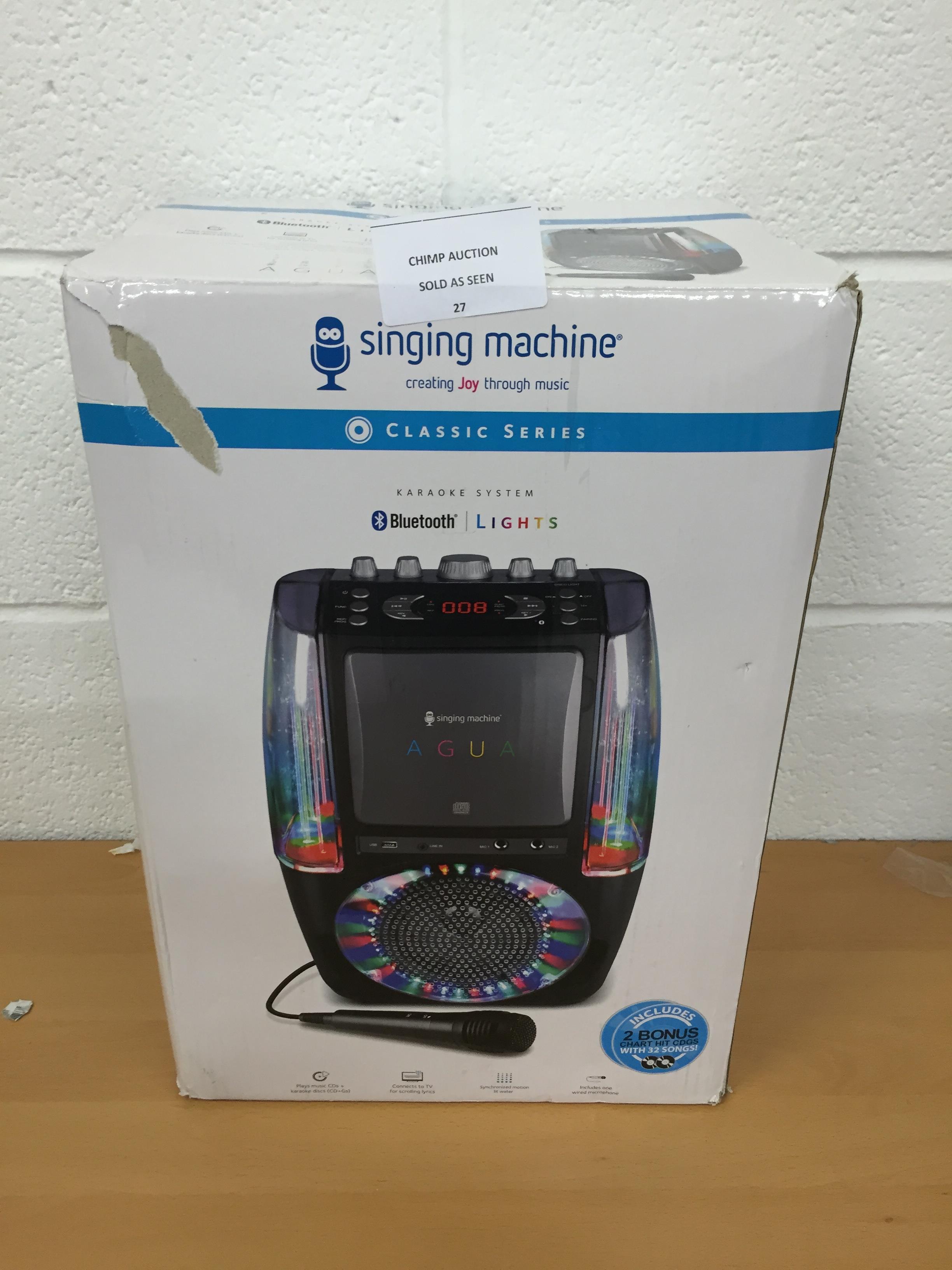 Lot 27 - Singing Machine SML605 Bluetooth karaoke system RRP £109.99.