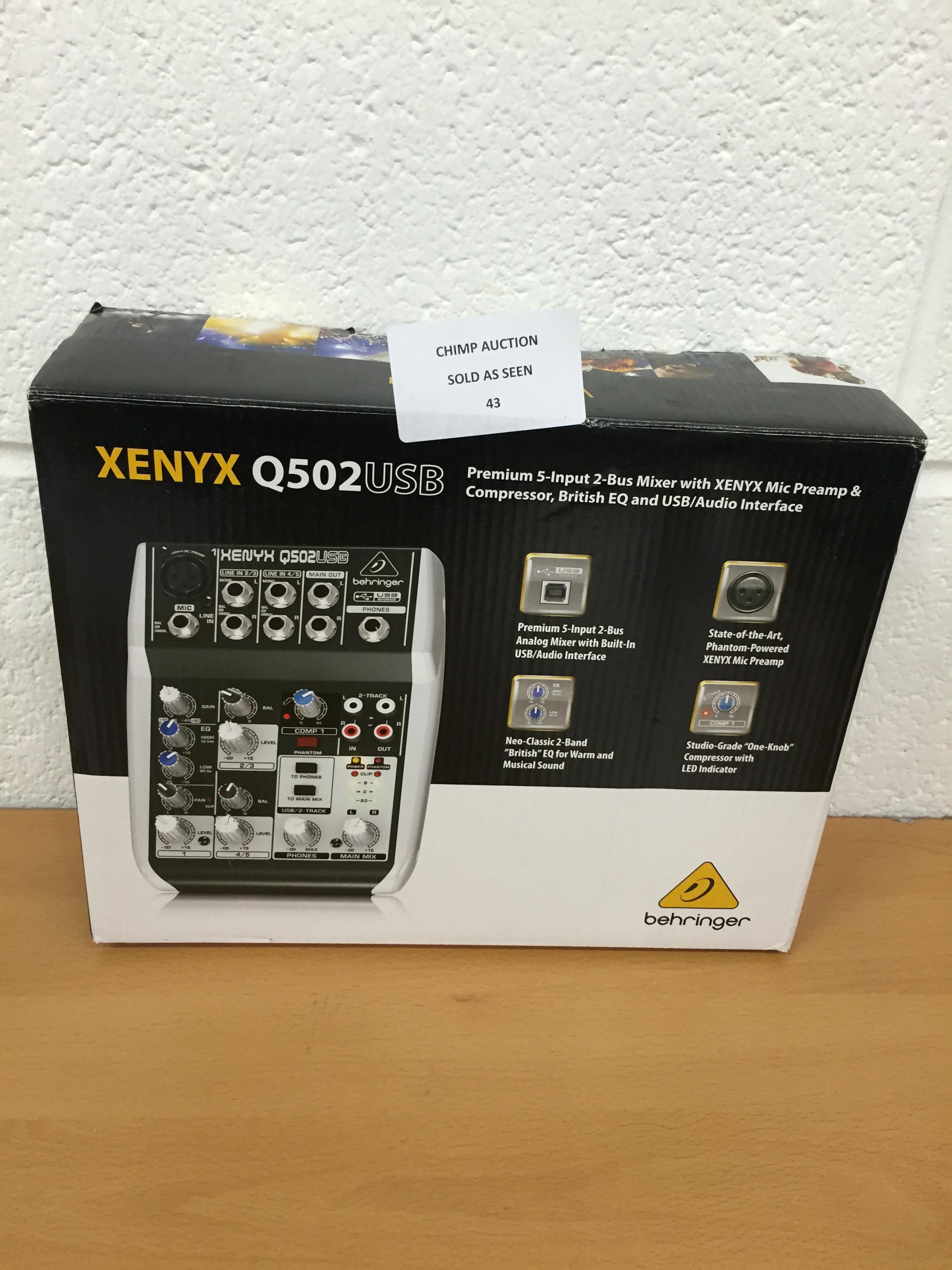 Lot 43 - Behringer Xenyx Q502USB Premium 5- input EQ USB Audio Interface RRP £79.99