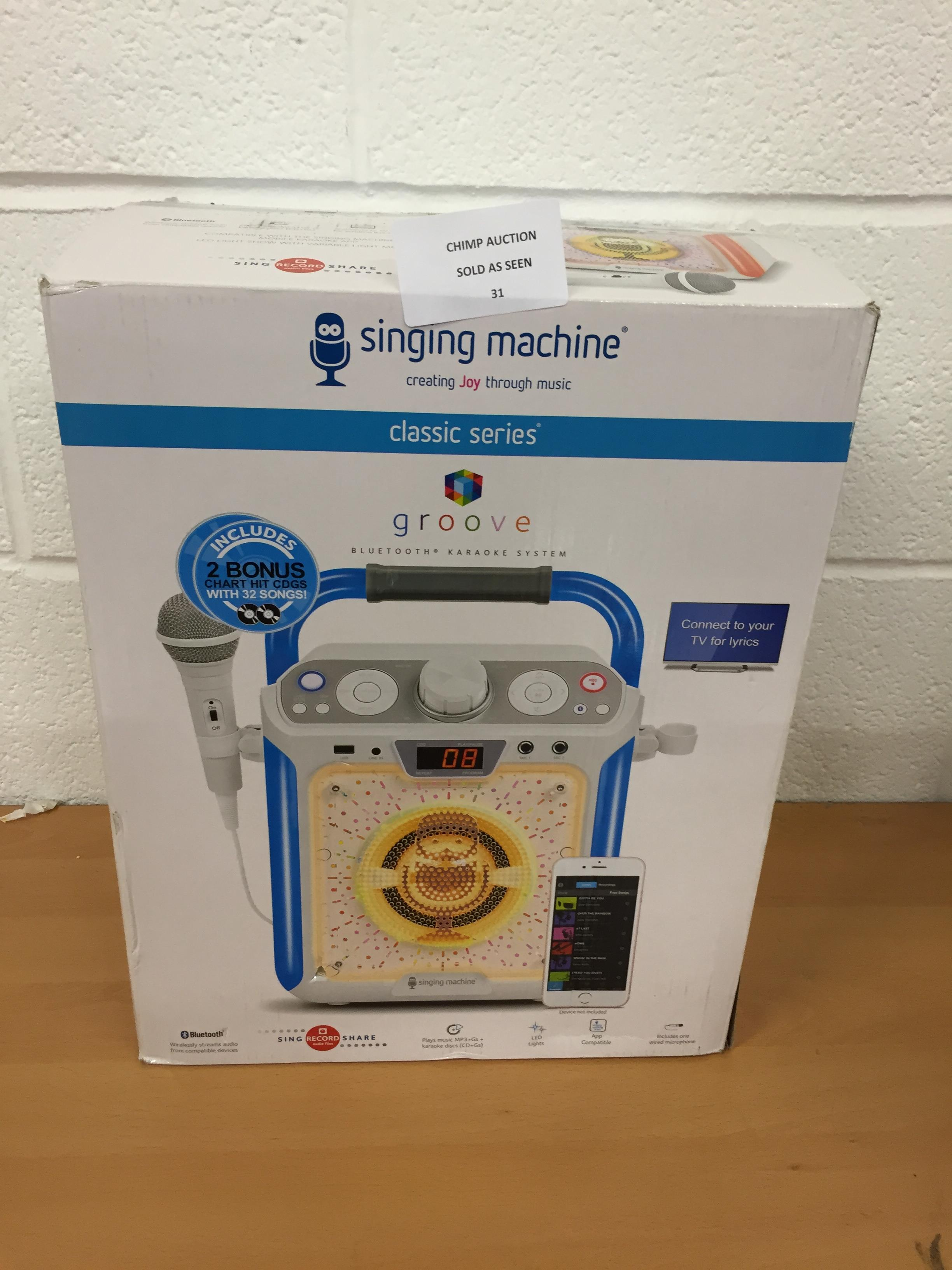 Lot 31 - Singing Machine SML682BTW Bluetooth Tablet Karaoke Machine RRP £129.99