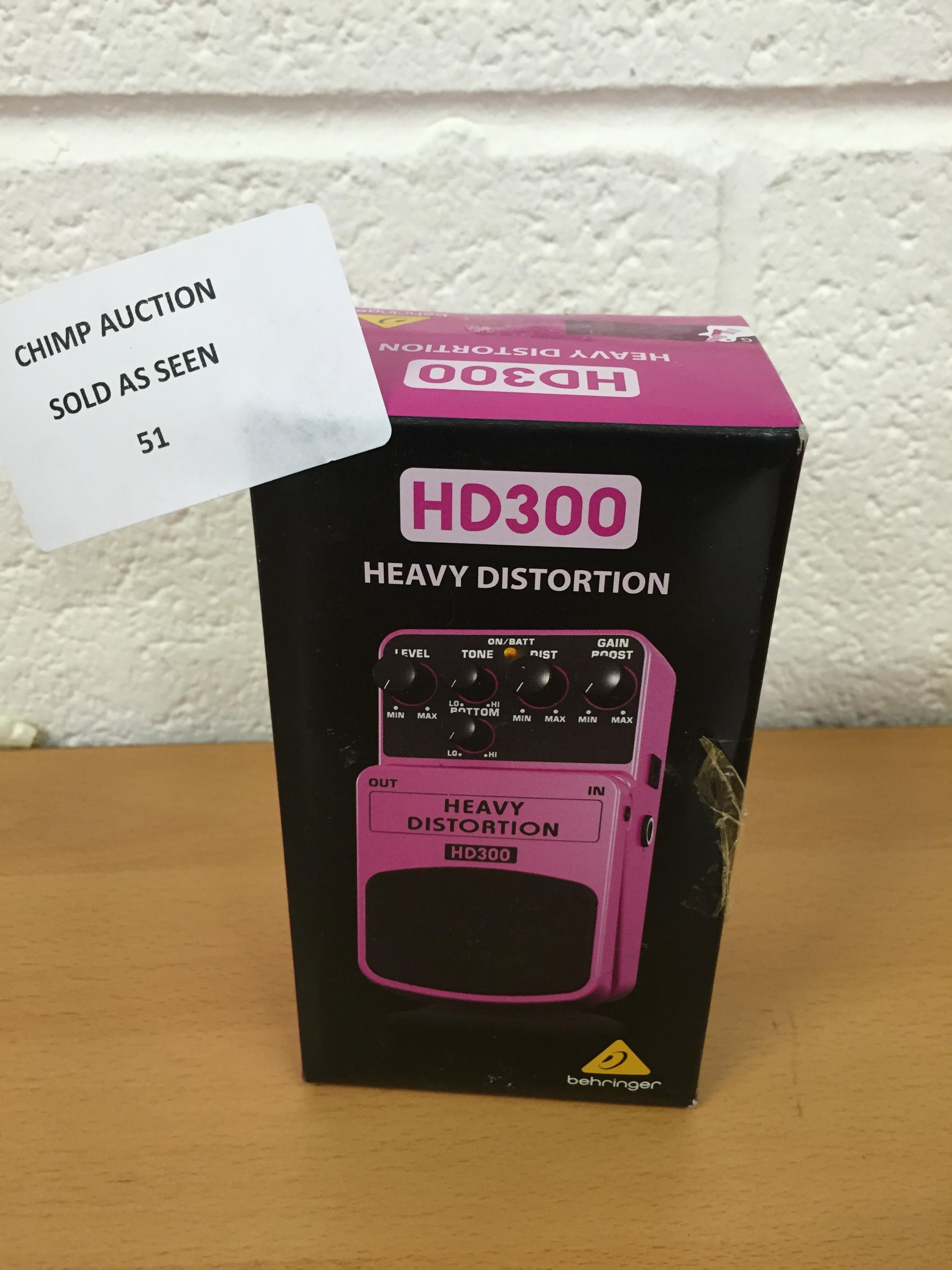 Lot 51 - Behringer HD-300 Heavy Distortion