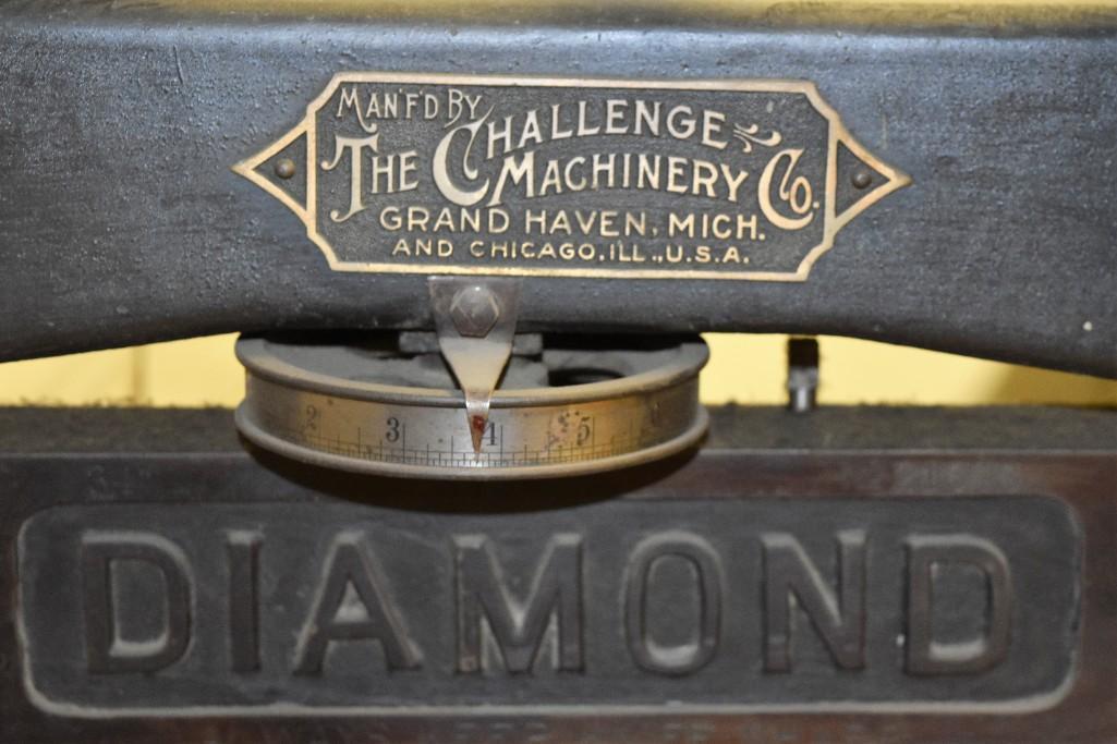 """Challenge 34.5"""" Diamond Paper Cutter, 36"""" (est.) Manual Back Gauge - Image 9 of 12"""