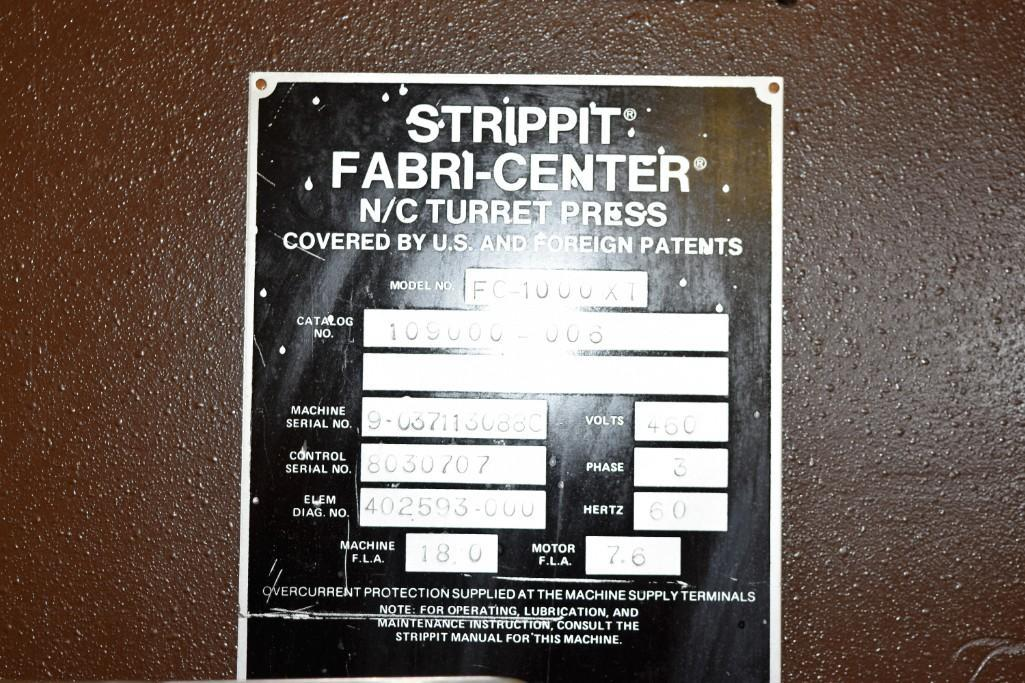 Strippit 30-Ton Model FC-1000XT CNC Turret Punch S/N: 9-037113088C - Image 10 of 12