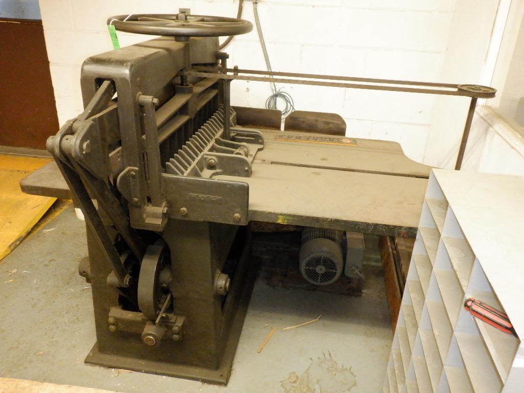 """Challenge 34.5"""" Diamond Paper Cutter, 36"""" (est.) Manual Back Gauge - Image 6 of 12"""