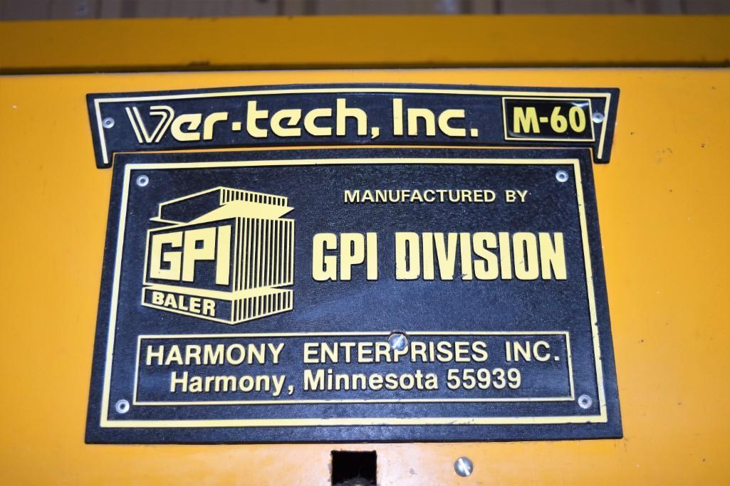 "GPI Ver-Tech 60"" x 30"" Model 60 Vertical Hydraulic Baler - Image 7 of 10"