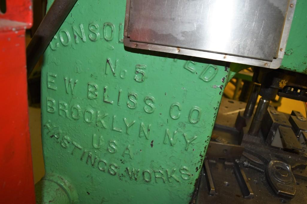Bliss 42-Ton Consolidated 5 OBI Press S/N: H4165 - Image 3 of 6