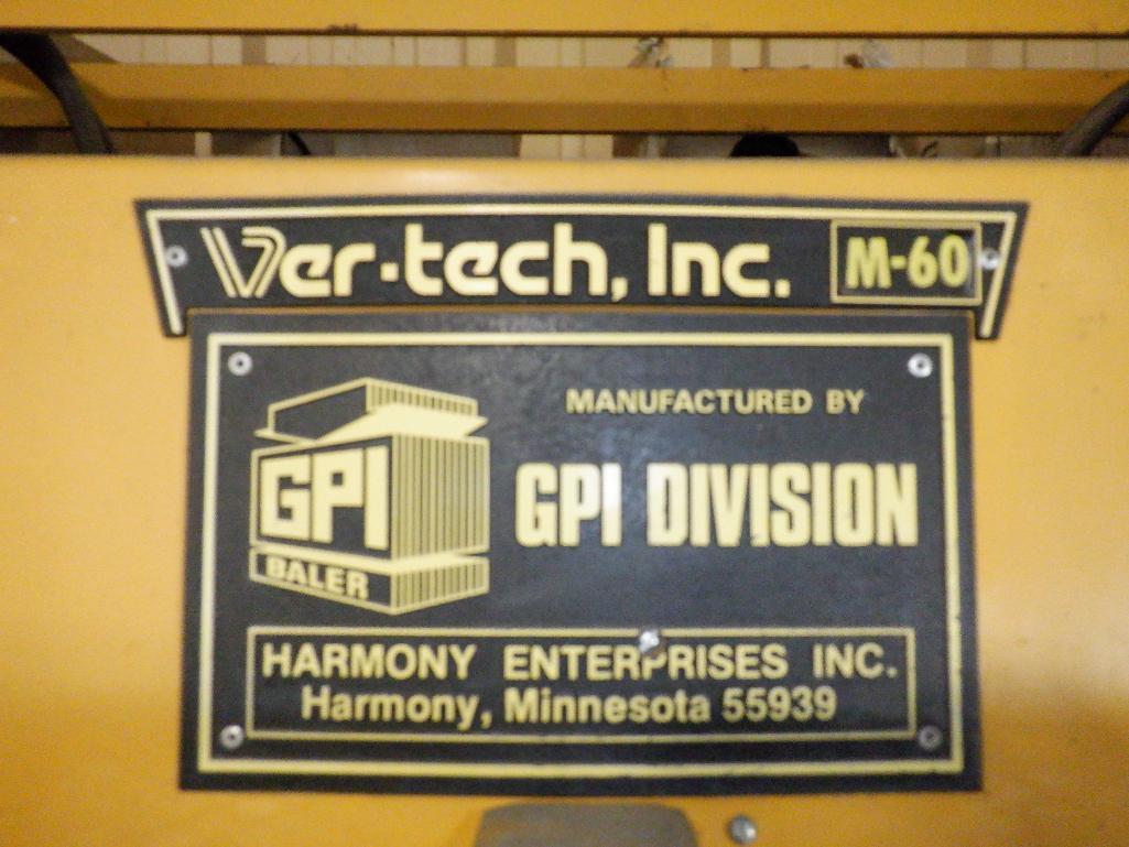 "GPI Ver-Tech 60"" x 30"" Model 60 Vertical Hydraulic Baler - Image 6 of 10"