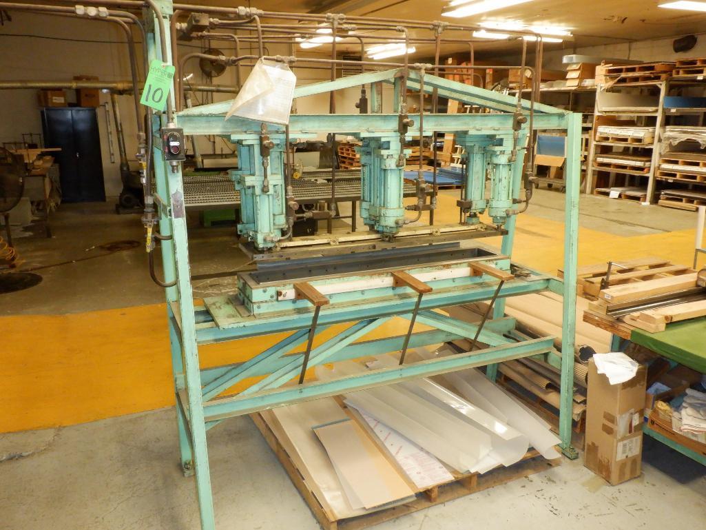 4' Custom Built Pneumatic Lume Form Press - Image 3 of 19