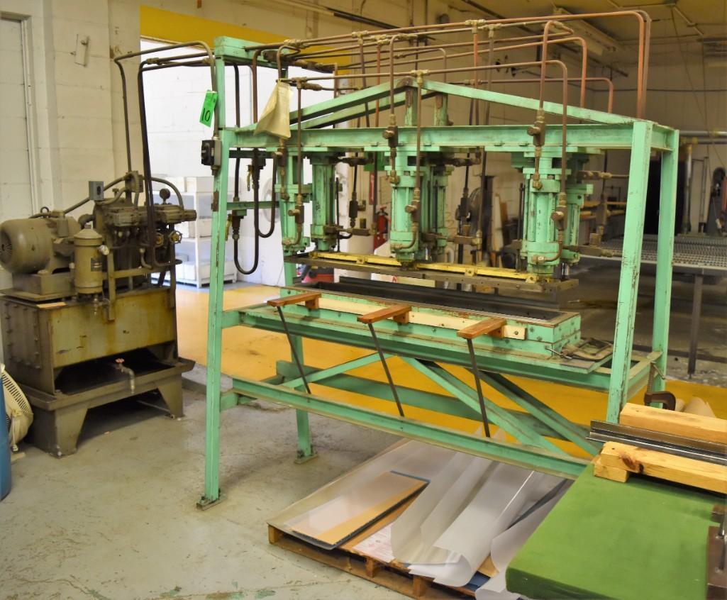 4' Custom Built Pneumatic Lume Form Press - Image 2 of 19