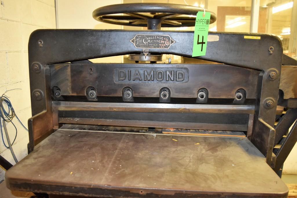 """Challenge 34.5"""" Diamond Paper Cutter, 36"""" (est.) Manual Back Gauge - Image 8 of 12"""