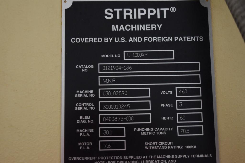 Strippit 20-Ton LVD U1000XP20 CNC Turret Punch S/N: 030102893 - Image 11 of 11