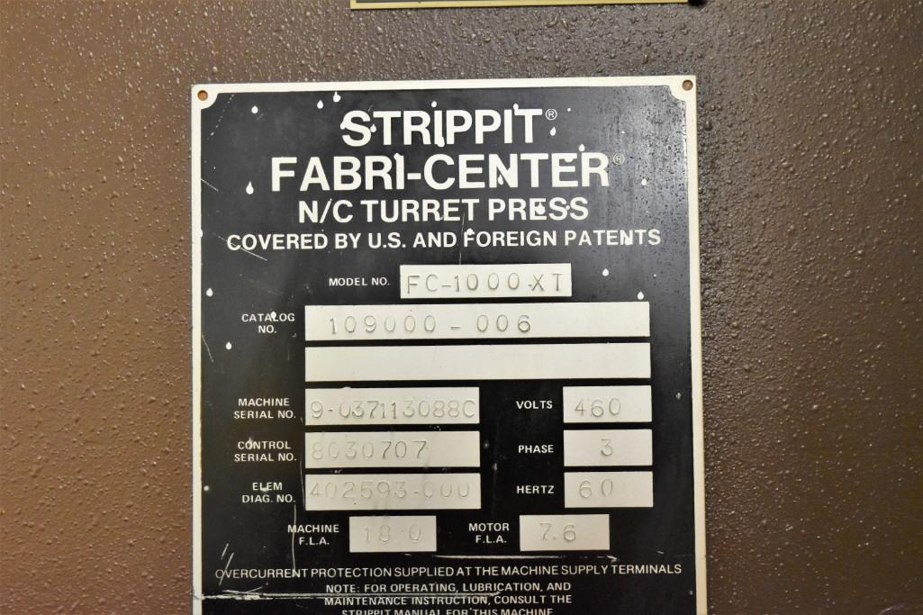 Strippit 30-Ton Model FC-1000XT CNC Turret Punch S/N: 9-037113088C - Image 11 of 12