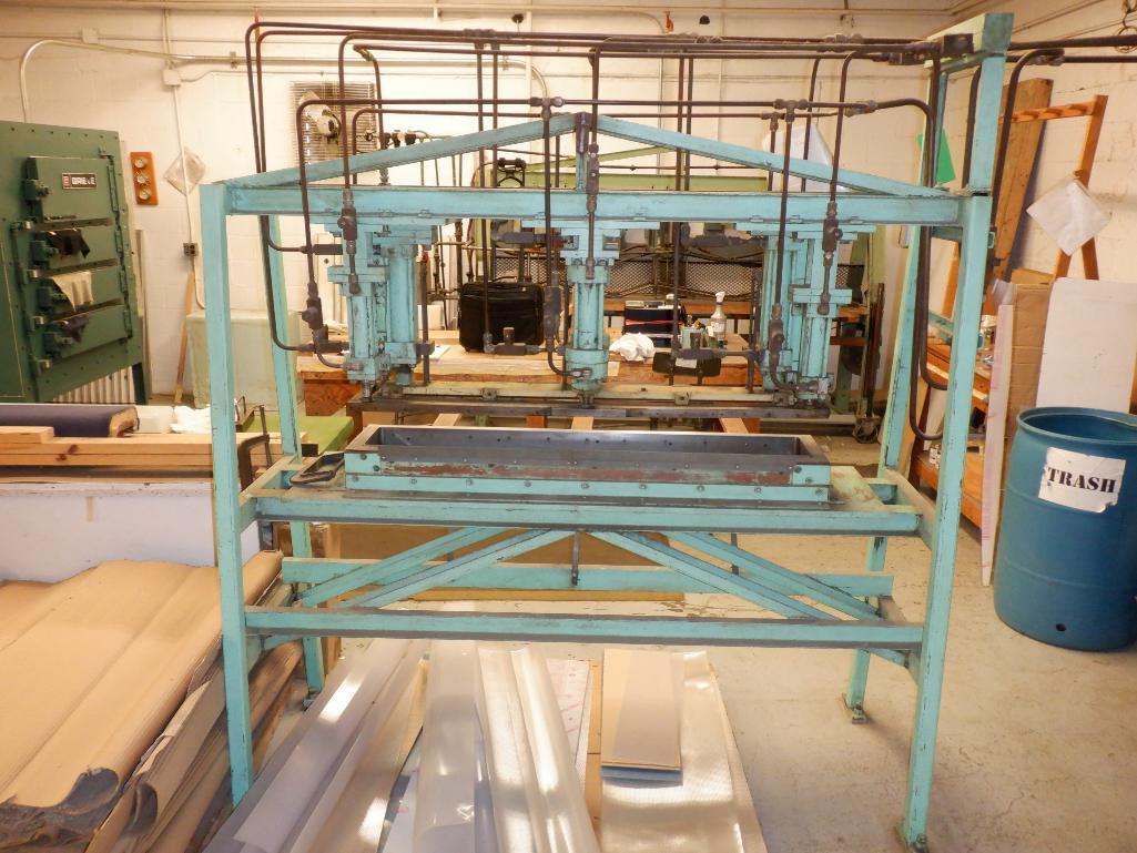 4' Custom Built Pneumatic Lume Form Press - Image 5 of 19