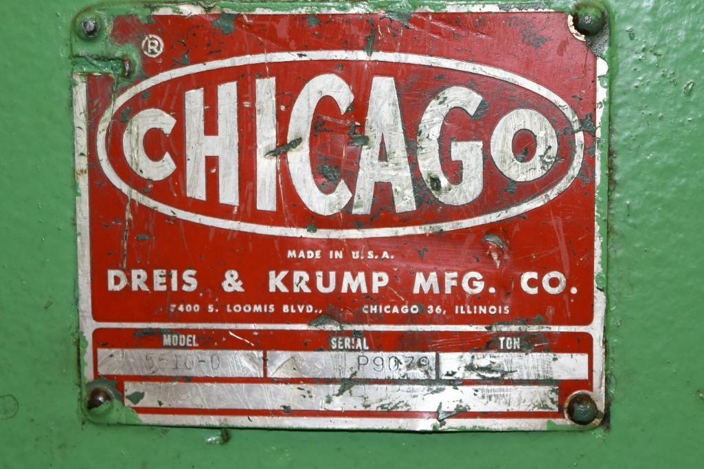 Dreis & Krump 150-Ton x 12' Model 5510-D Mechanical Press Brake S/N: P-9079 - Image 5 of 8