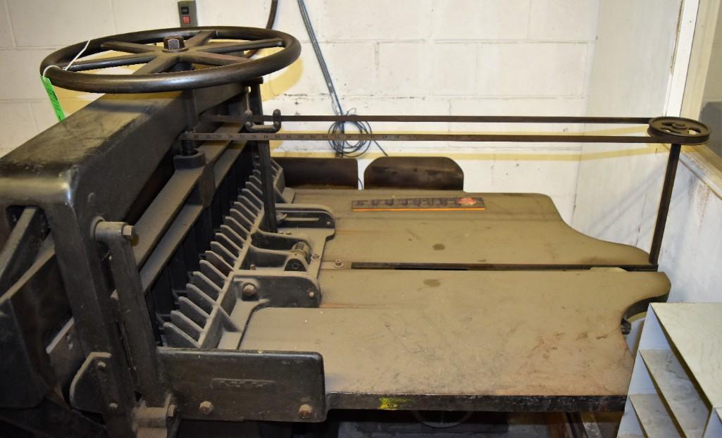 """Challenge 34.5"""" Diamond Paper Cutter, 36"""" (est.) Manual Back Gauge - Image 10 of 12"""