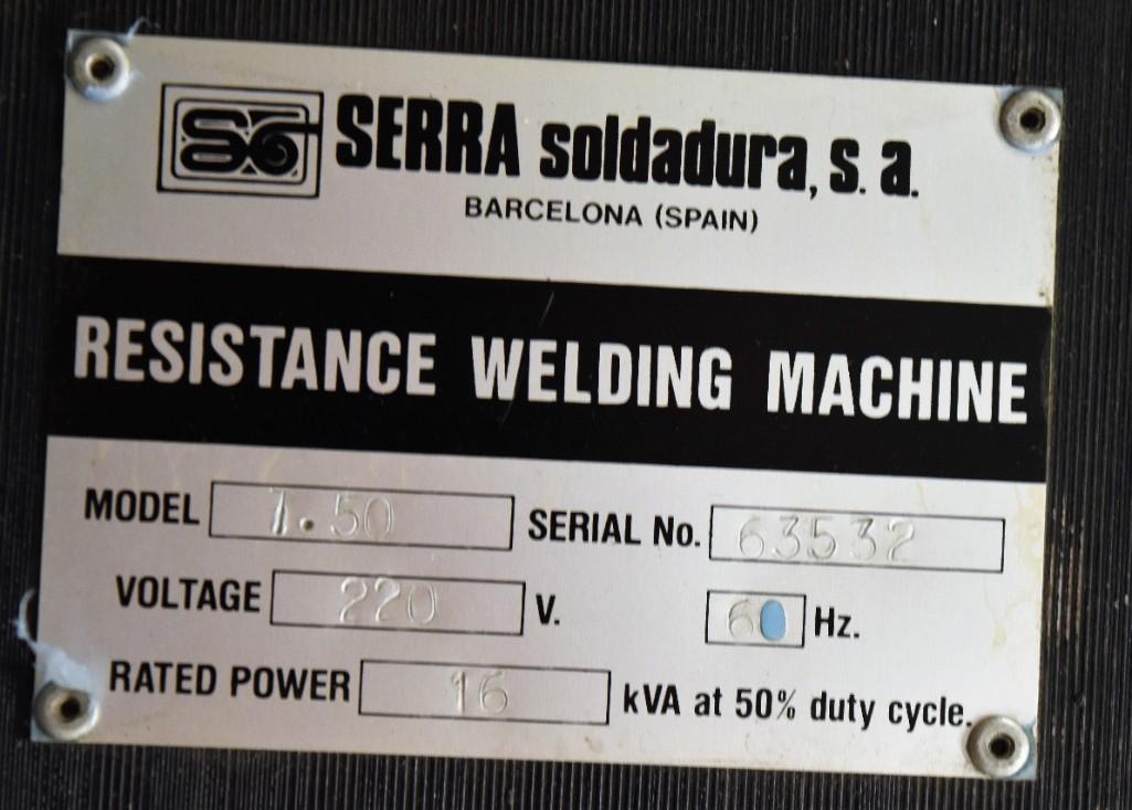 "Serra 10"" 16-KVA Model 7.50 Hanging Spotwelder S/N: 63532 - Image 6 of 9"